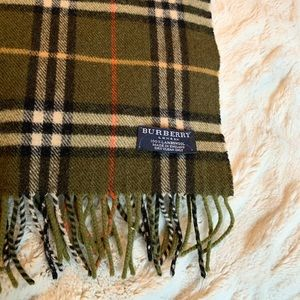 BURBERRY lambswool scarf khaki green was $350